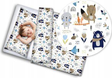 100% Cotton Bedding set- blue teddies