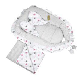 """Sweet Angel"" nests- grey and pink big stars"