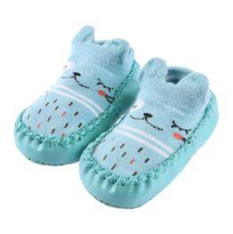 Baby anti slip booties- turquoise
