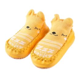 Baby anti slip booties- yellow