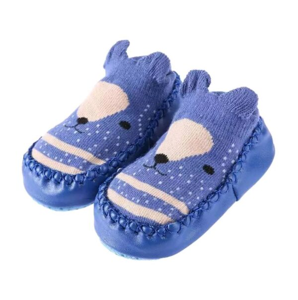 Baby anti slip booties- blue