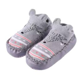 Baby anti slip booties- grey