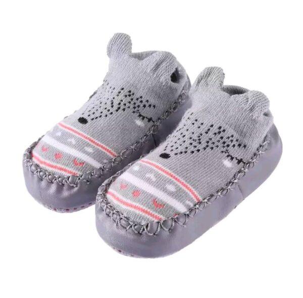 Baby anti slip booties- grey