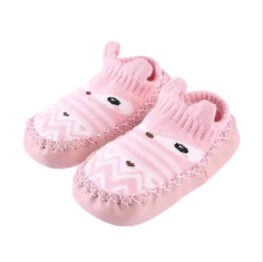 Baby anti slip booties- pink