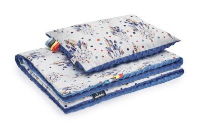 Minky blanket set- dark blue/dream catchers