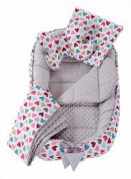 6in1 Baby Nest Set- grey hearts