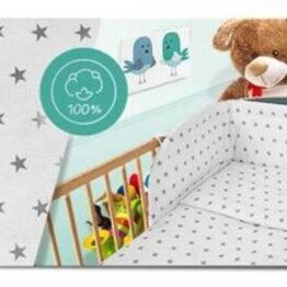 100% Cotton Bedding set- white stars