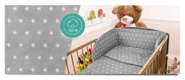 100% Cotton Bedding set- grey stars