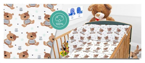 100% Cotton Bedding set- brown bears