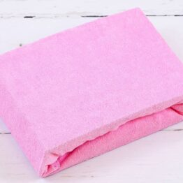 Terry Cot sheet/pink