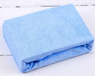 Terry cot sheet/ plain baby blue