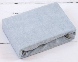 Terry Cot sheet/grey
