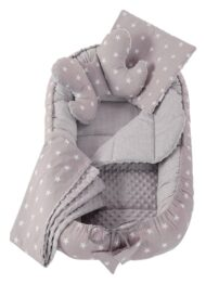 5in1 Baby Nest Set- grey stars