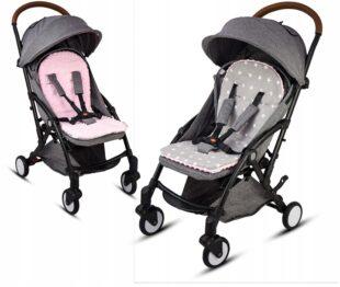 Buggy/car seat insert- pink/grey stars