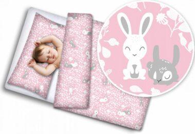 Toddler Bedding Set- pink rabbits