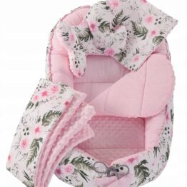 5in1 Baby Nest Set- pink flowers