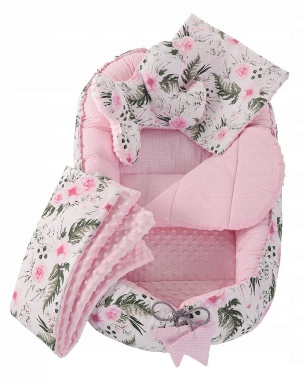 6in1 Baby Nest Set- pink flowers