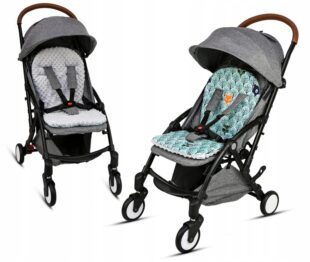 Buggy/car seat insert- grey/mint forest