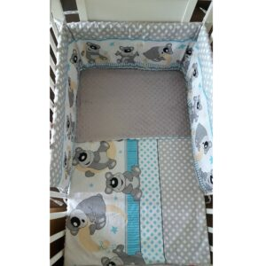 Minky & Cotton Bedding Sets with Regular Bumpers