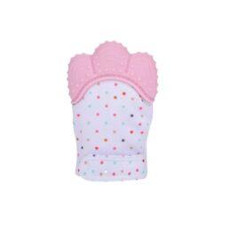 Teething mitten/glove- pink
