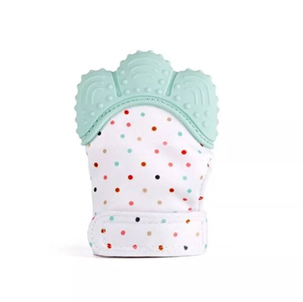 Teething mitten/glove- mint