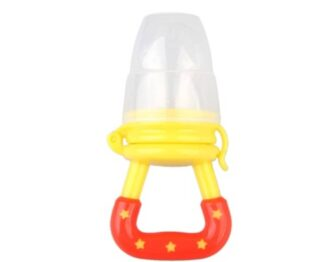 Baby fruit pacifier- yellow/orange
