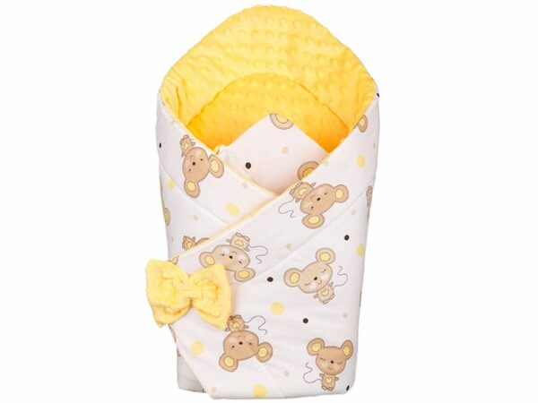 3in1 Baby Swaddle Wrap- yellow mouse