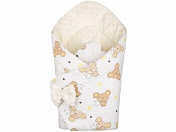 3in1 Baby Swaddle Wrap- cream mouse