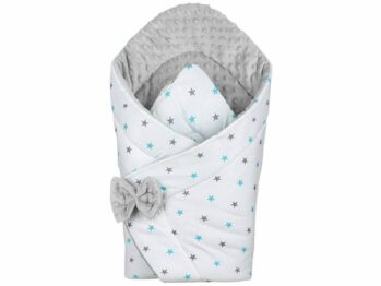 3in1 Baby Swaddle Wrap- grey/blue stars