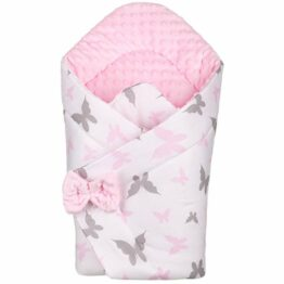 3in1 Baby Swaddle Wrap- pink butterflies