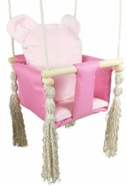 Baby swing- pink teddy