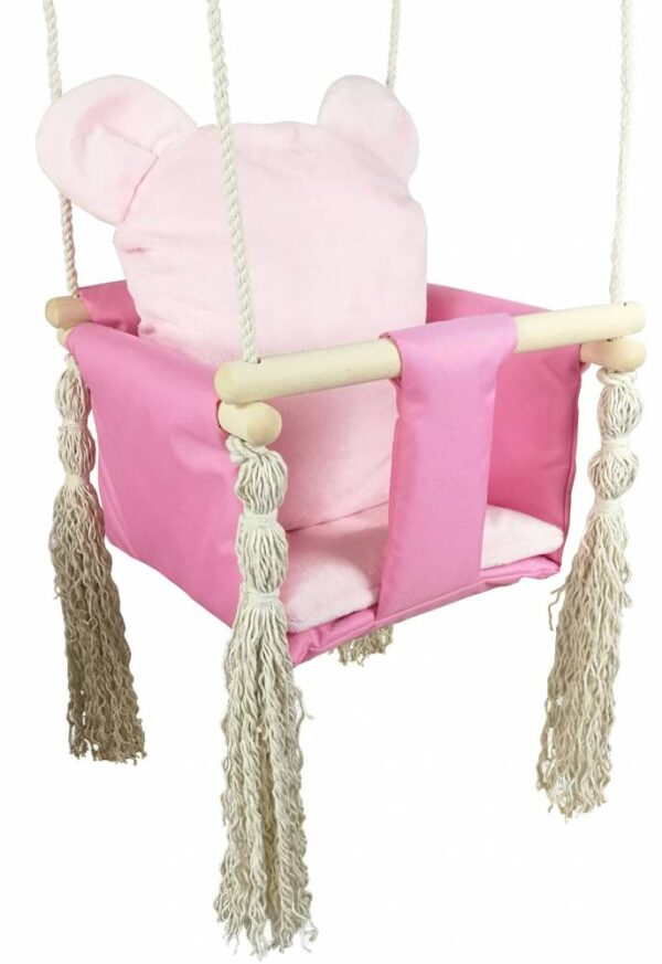 Baby swing- pink teddy