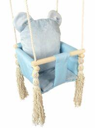 Baby swing- blue teddy