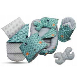 6-piece nest set- grey/mint foxes