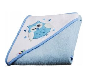 Large baby hooded towel- blue