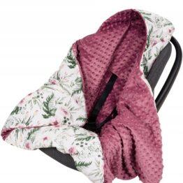 Warm Car seat blanket- retro garden