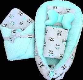 5-piece premium nest set- mint pandas
