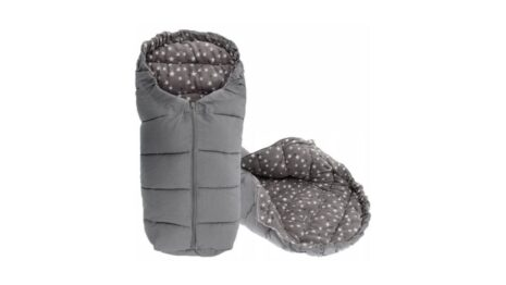 Warm footmuff 90cm- grey stars