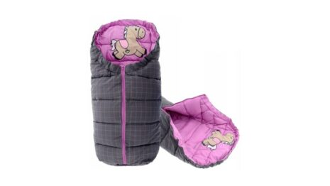 Warm footmuff 90cm- pink pony