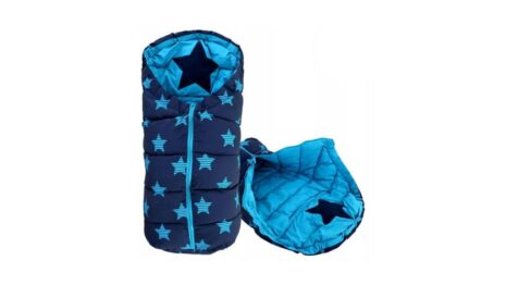 Warm footmuff 90cm- blue stars