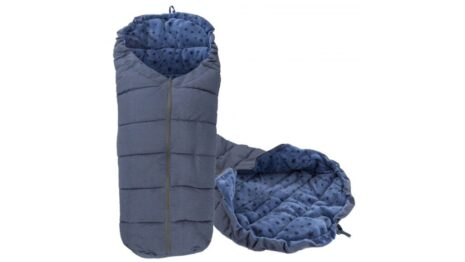 Warm footmuff 90cm- navy stars
