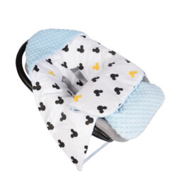 Car seat blanket/sleeping bag- blue mickey