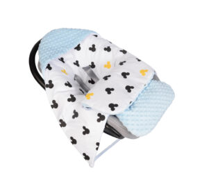 Car seat blanket/sleeping bag- blue mickey