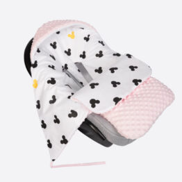 Car seat blanket/sleeping bag- pink mickey