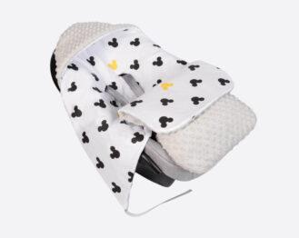 Car seat blanket/sleeping bag- grey mickey