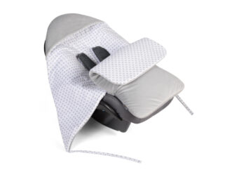 Car seat blanket/sleeping bag- grey checked