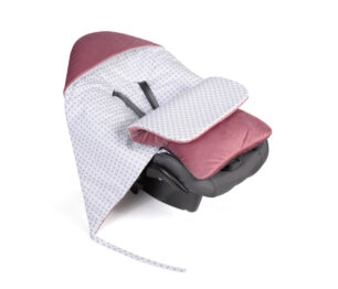 Car seat blanket/sleeping bag- wine checked