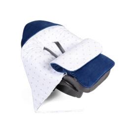 Car seat blanket/sleeping bag- navy stars