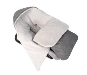 Car seat blanket/sleeping bag- grey linen/plain grey