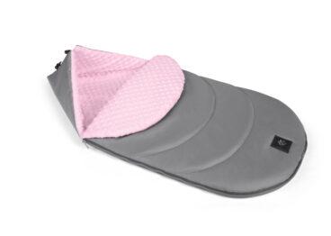 Footmuff grey/pink